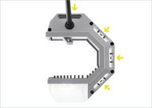 Montaż przy pomocy śruby lub gwoździa